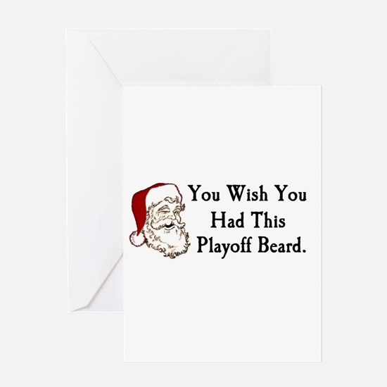 Santa's Playoff Beard Greeting Card