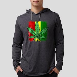 Rasta Flag...marijuana Long Sleeve T-Shirt