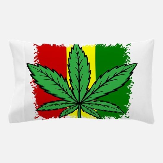 Rasta Flag...marijuana Pillow Case