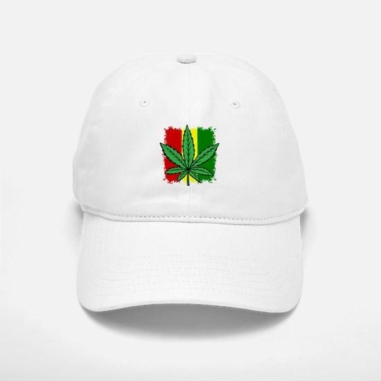 Rasta Flag...marijuana Baseball Baseball Cap