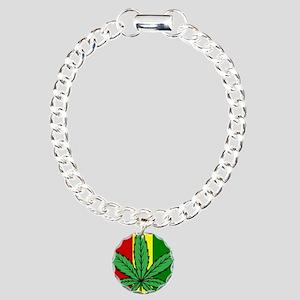 Rasta Flag...marijuana Charm Bracelet, One Charm
