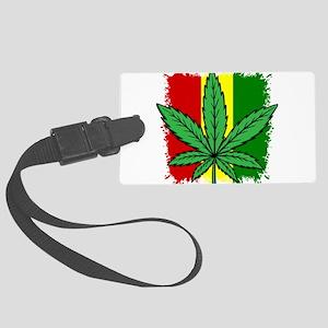 Rasta Flag...marijuana Large Luggage Tag