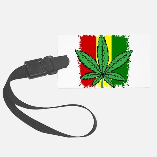 Rasta Flag...marijuana Luggage Tag