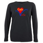 Cabo Verde Flor Plus Size Long Sleeve Tee