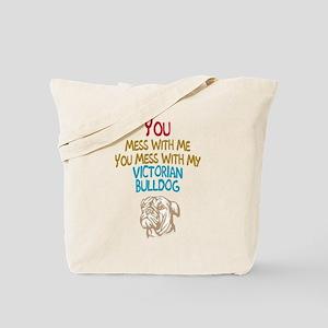 Victorian Bulldog Tote Bag