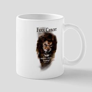 Chemo The Lion, Fxxx Cancer- Mugs