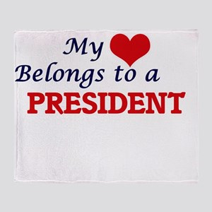 My heart belongs to a President Throw Blanket