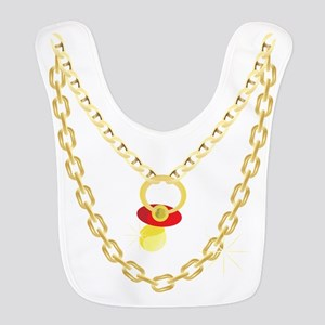 Baby Pimpin - Bling Pacifier Polyester Baby Bib