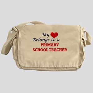 My heart belongs to a Primary School Messenger Bag