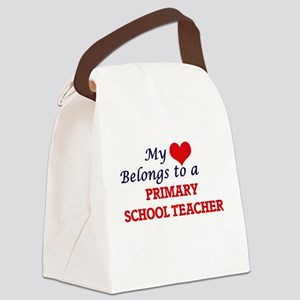 My heart belongs to a Primary Sch Canvas Lunch Bag