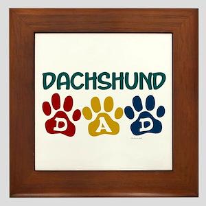 Dachshund Dad 1 Framed Tile