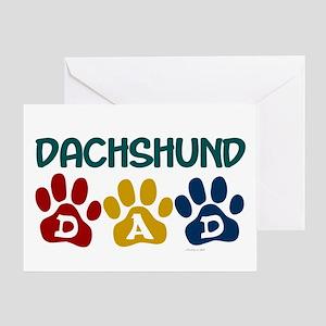 Dachshund Dad 1 Greeting Card
