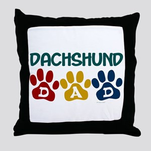 Dachshund Dad 1 Throw Pillow