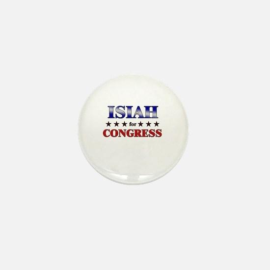 ISIAH for congress Mini Button