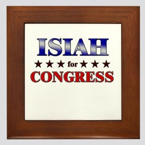 ISIAH for congress Framed Tile