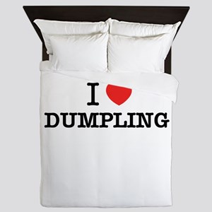 I Love DUMPLING Queen Duvet