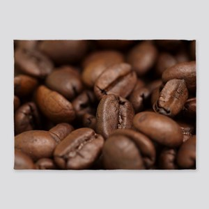 Coffee Beans 5'x7'Area Rug