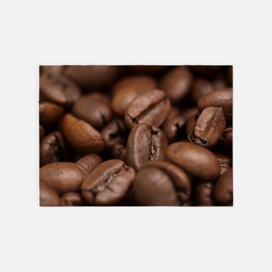 Coffee Beans 5'x7'Area Rug