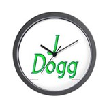 J dog Wall Clocks