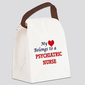 My heart belongs to a Psychiatric Canvas Lunch Bag