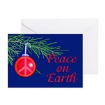 Peace on Earth with Peace Sign Greeting Cards (Pk