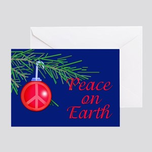 Peace on Earth with Peace Sign Greeting Card