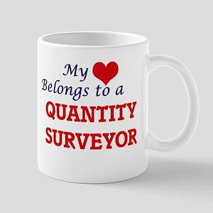 My heart belongs to a Quantity Surveyor Mugs