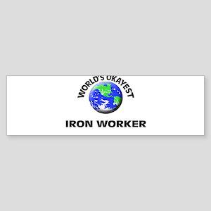 World's Okayest Iron Worker Bumper Sticker