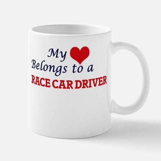 My heart belongs to a Race Car Driver Mugs