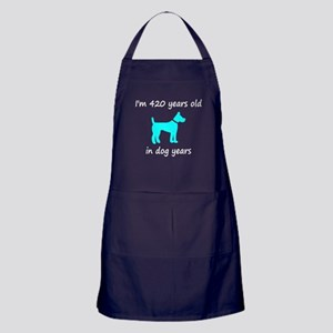 60 Dog Years Lt Blue Dog 1 Apron (dark)