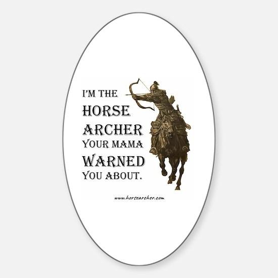 Cute Horseback Sticker (Oval)