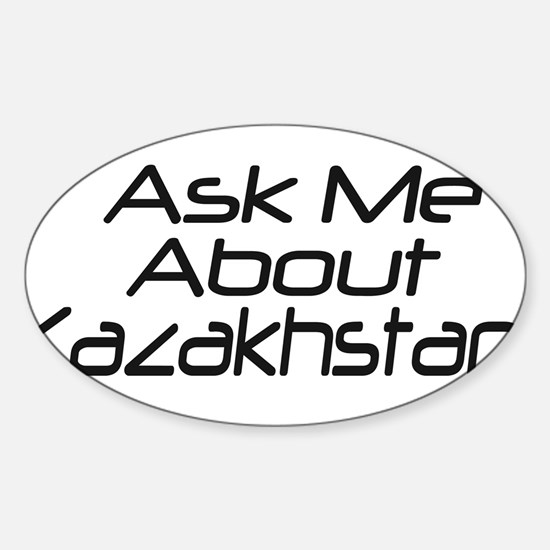 Ask me about Kazakhstan Oval Decal