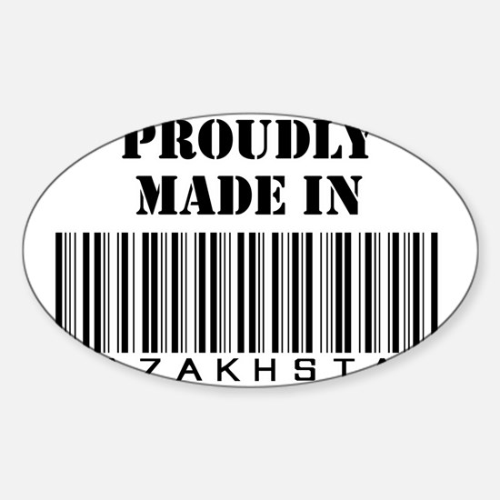 Proudly made in Kazakhstan Oval Decal