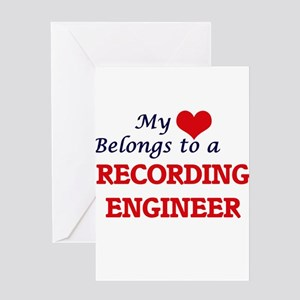 My heart belongs to a Recording Eng Greeting Cards