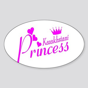 Kazakhstani Princess Oval Sticker