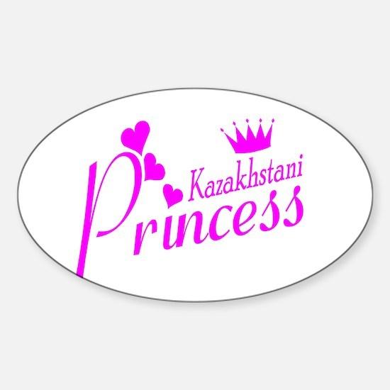 Kazakhstani Princess Oval Decal