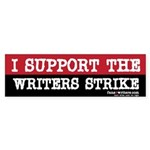 I Support The Writers Strike Bumper Sticker
