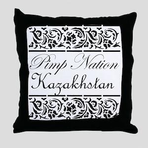 Pimp nation Kazakhstan Throw Pillow