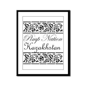 Pimp nation Kazakhstan Framed Panel Print