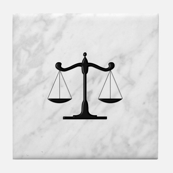 Scales of Justice Tile Coaster