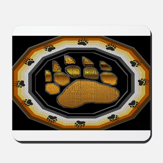 BEAR PAW IN BEAR PRIDE DESIGN Mousepad
