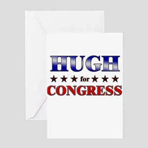 HUGH for congress Greeting Card