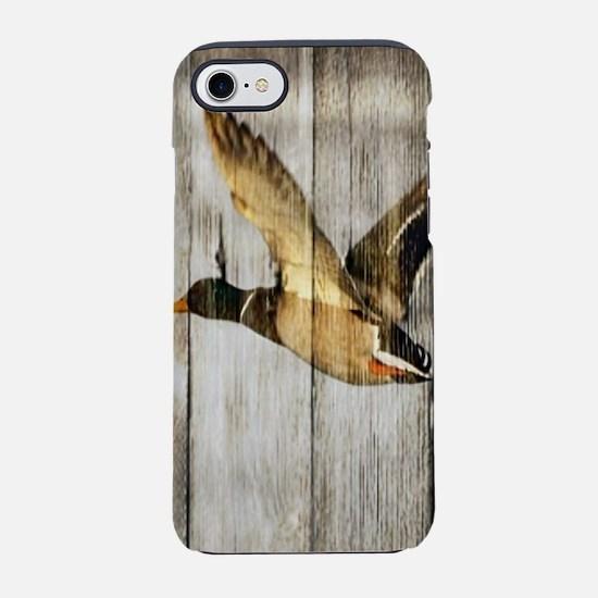 rustic barnwood wild duck iPhone 8/7 Tough Case