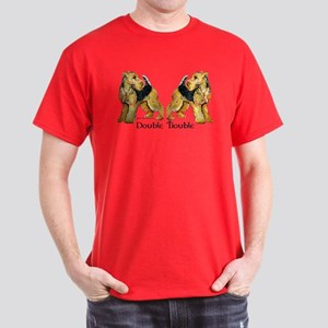 Airedale Terrier Trouble Dark T-Shirt