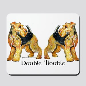 Airedale Terrier Trouble Mousepad