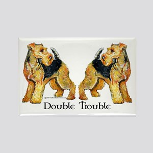 Airedale Terrier Trouble Rectangle Magnet