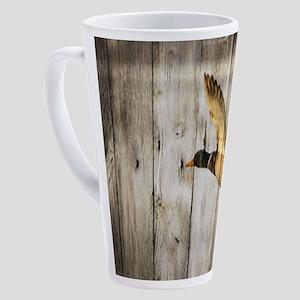 rustic barnwood wild duck 17 oz Latte Mug