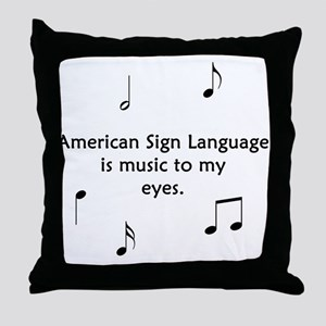 Deaf Music Throw Pillow