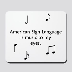Deaf Music Mousepad
