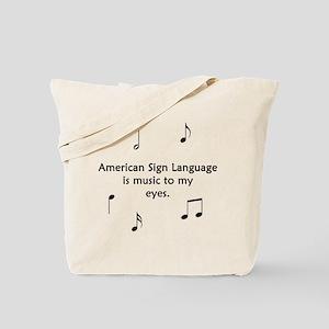 Deaf Music Tote Bag